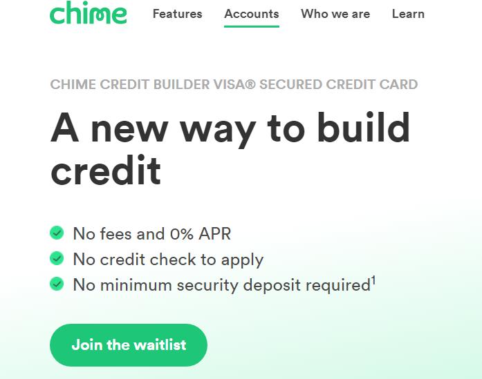 chime credit builder visa credit card